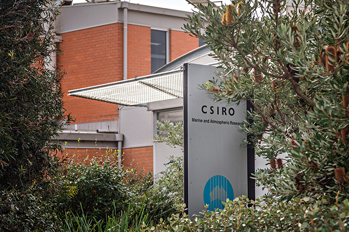 Atmosphere of cuts: Scientists at the CSIRO laboratories in Aspendale conduct research on climate change.