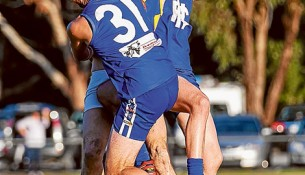 Up in the air: The result of the MPNFL game between Somerville and Hastings could be doubt. Picture: Andrew Hurst