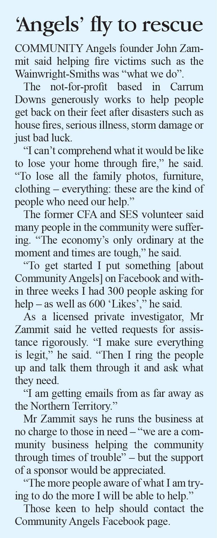 community angels | Bayside News