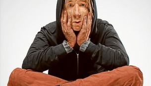 Talking point: Paul Trefry's Homeless still human work is of silicone, fiberglass, polyester resin and horse hair. It was a Wynne Prize entry.
