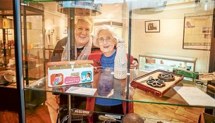 History in homes: Dorothy Booth, left, and Veronica Hahn have gathered household collectables to be displayed at the Old Bakery Museum in Mentone. Picture: Yanni