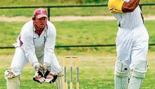 Cricket's back: Skye take on Frankston YCW in a Sub-District match at the weekend. Picture: Andrew Hurst