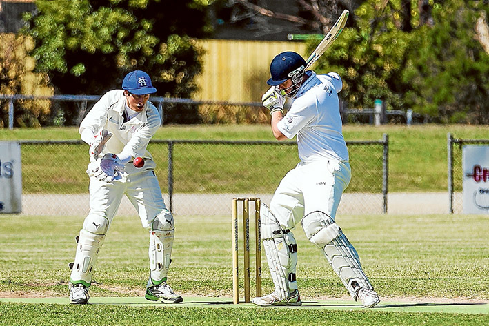Victory in sight: Hastings are less than 50 runs short of victory in their match against Balnarring. Picture: Andrew Hurst