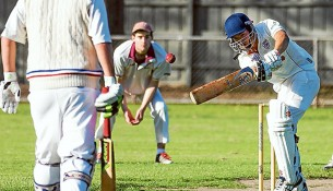 Batting for a win: Ballam Park have just three wickets in hand chasing victory. Picture: Andrew Hurst