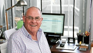 Back home: Kevin Johnson is president of Menzies Caring for Kids, the organisation that provided a home for him and his brother when their parents split 59 years ago. Picture: Keith Platt