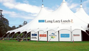 Big top lunch: A marquee on Frankston Oval seating up to 700 is the venue for the Sunday 22 November Proudly Frankston third annual Long Lazy Lunch.