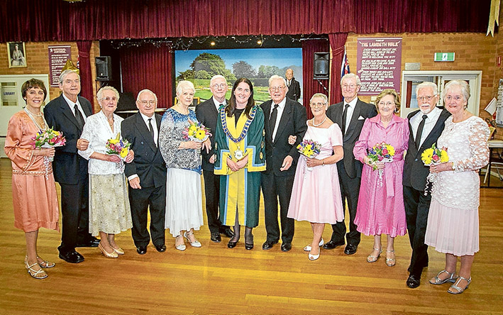 I bet you look good on the dancefloor: Seniors including some who had never danced formally in public before hit the floorboards at Aspendale Seniors Citizen Club this month to show off dance moves at a debutante presentation after weeks of rehearsals. Pictures: Andrew Bearsley