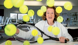 Good volley: Mornington Tennis Club life member and tennis champion Sylvia Pingiaro has written a history of the 125-year-old club. Picture: Gary Sissons