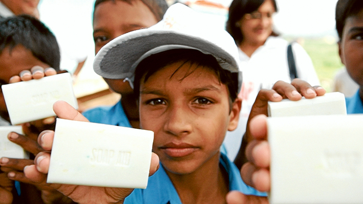 Life savers: Soap can stop fatal hygiene-related diseases in third world countries and indigenous communities.