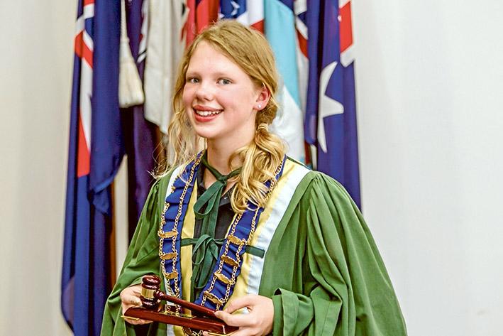 Tess time to shine as junior mayor   Bayside News