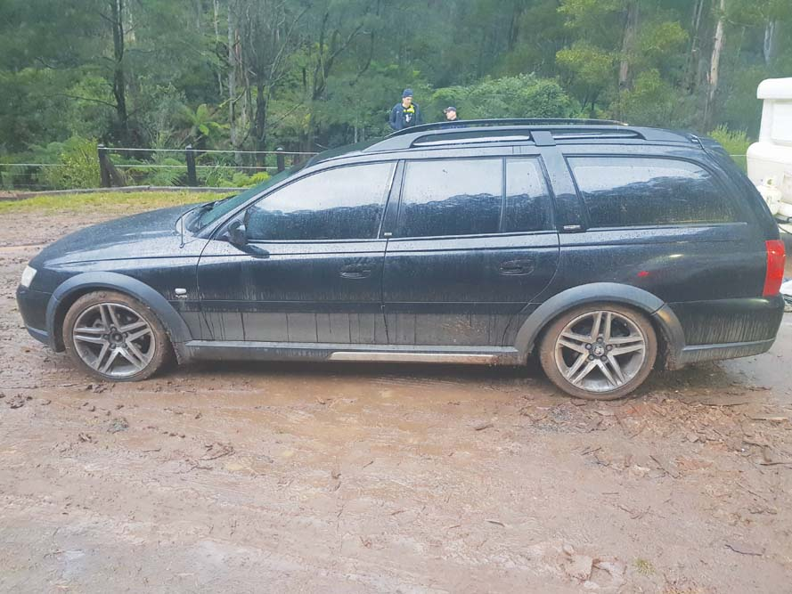 A MAN who died after an incident in Noojee last week. Images of his camp site and car have also been released. Pictures: Supplied